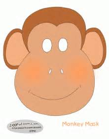 monkey mask template make a monkey mask ziggity zoom