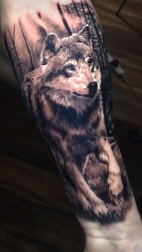 wolf forest wolves forest tattoos