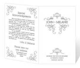free printable wedding program templates word wedding program template word cyberuse