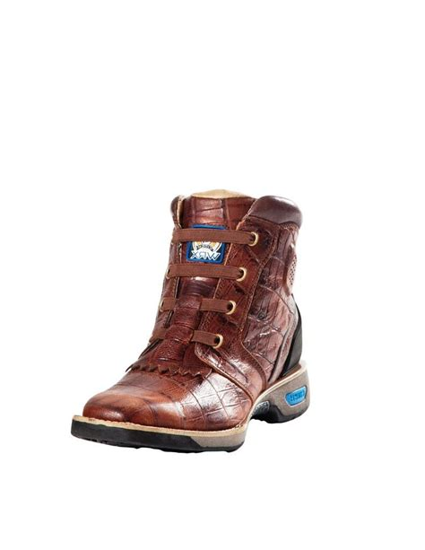cinch boots womens cinch work boots womens leather wrx gator print brown