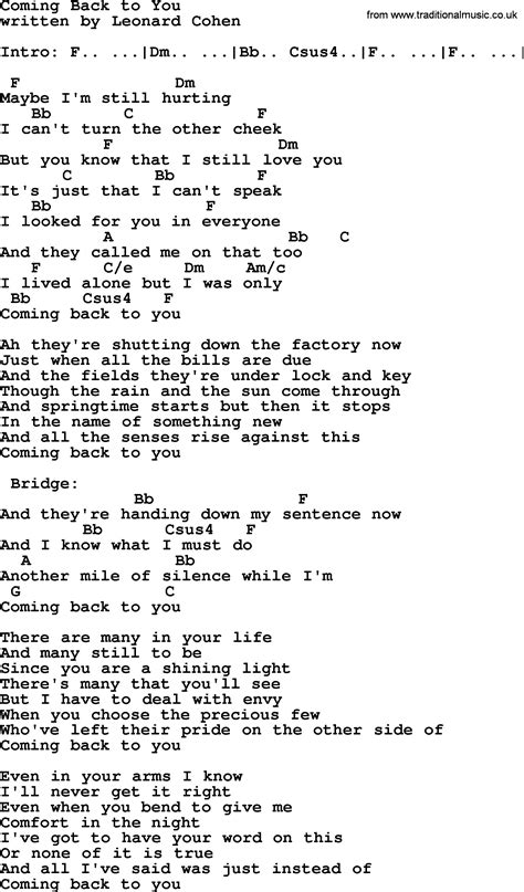 lyrics pdf picture suggestion for leonard cohen lyrics pdf