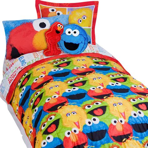 sesame street elmo chalk 5 piece elmo twin bed in a bag