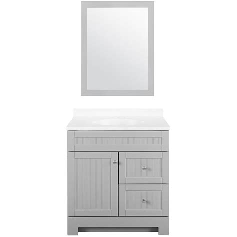 30 x 18 bathroom vanity tops shop style selections ellenbee gray integral single sink