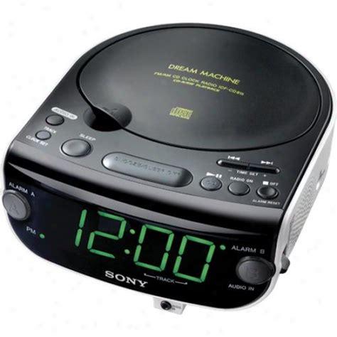 sony icf cd cd clock radio   mode dual alarm cd
