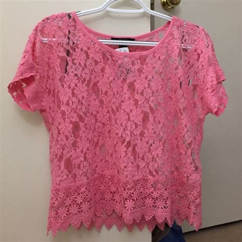 Blouse Top Pink pink lace blouse fashion ql