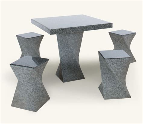 stone table and bench set garden benches granite table granite furniture