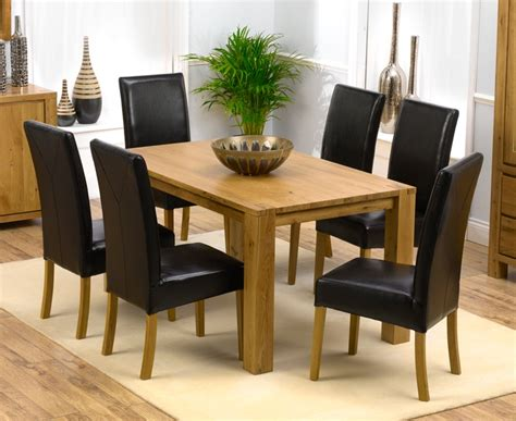 Tempo Dining Chairs Tempo Solid Oak Dining Table 150cm 6 Monaco Chairs