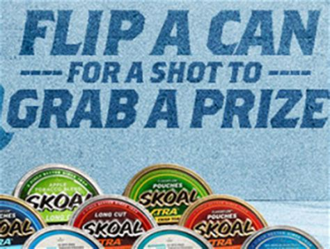 Skoal Sweepstakes 2017 - free skoal flip to win prizes instant win game and sweepstakes free sles by mail