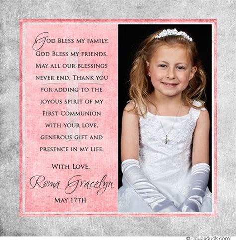 communion thank you card template 25 best images about thank you communion card on