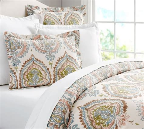 Organic Bedding Sets Adele Organic Duvet Cover Sham Pottery Barn