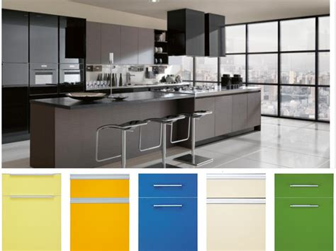 Uv Kitchen Cabinet by Mdf Pvc Coated Kitchen Cabinet With Quartz Counter