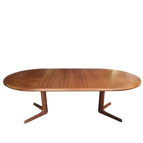 oval teak dining table by drylund at 1stdibs