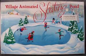 3341 dept 56 village animated skating pond lot 3341