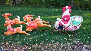 pvc lighted reindeer with sleigh empire santa sleigh 4 reindeer lighted mold outdoor decoration vintage