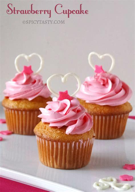 s day cupcakes strawberry cupcakes recipe dishmaps