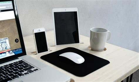 bureau pour mac kickstarter un bureau con 231 u pour le mac avec un dock