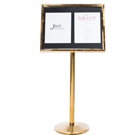 sign stands aarco brass single pedestal sign board