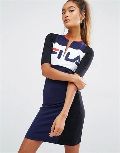 Hoodie Zipper Sweater Fila fila fila robe t shirt color block avec zip sur le devant