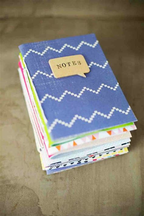 How To Make Handmade Notebooks - 25 diy gifts you can make in an hour diy ready