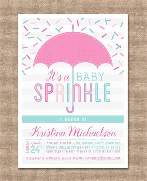 baby shower sprinkle invitations printable baby sprinkle invitation baby shower pink baby