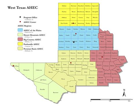 map of west texas counties west texas ahec