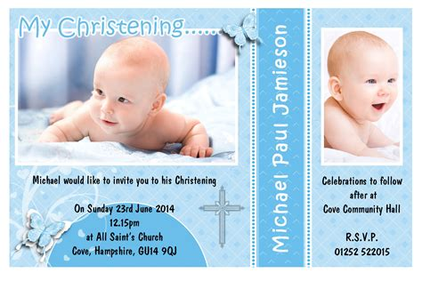 baptism photo card template free baptism invitation template free baptism invitation