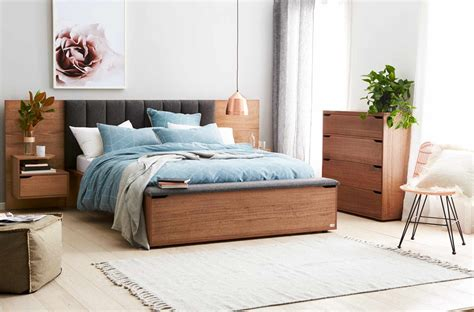 lincoln bed frame wupholstered bedhead storage foot box