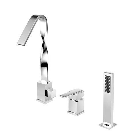 deck mount bathtub faucets glacier bay builders 2 handle deck mount roman tub faucet