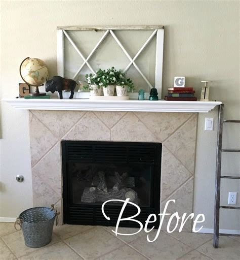 easy fireplace makeover simple and temporary fireplace makeover