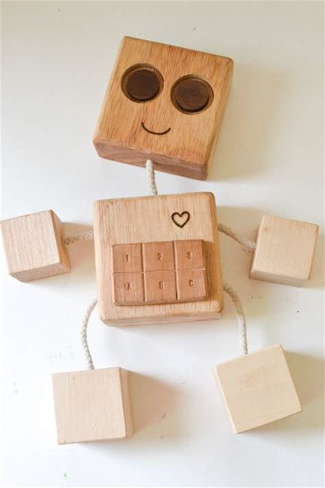 diy wooden robot buddy easy project  kids homemade