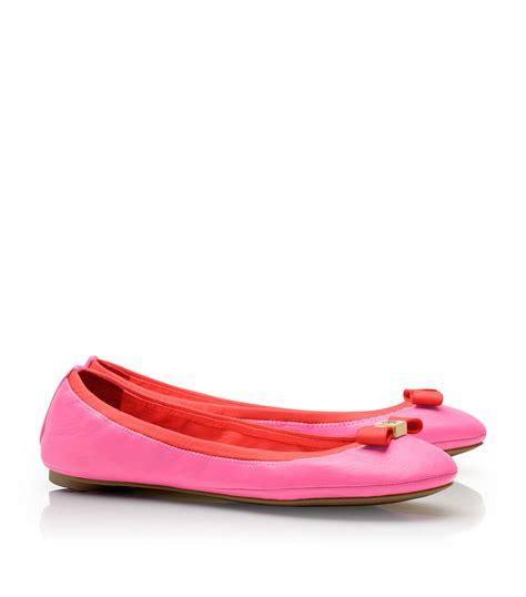 burch shoes flats burch eddie bow ballet flats in pink flamingo new