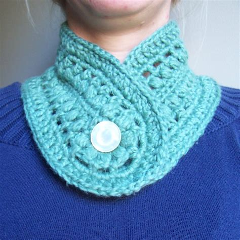 Handmade Crochet Scarves - pretty puffs neckwarmer scarf handmade crochet