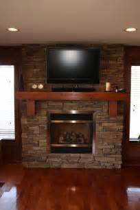 Stone fireplace designs with tv