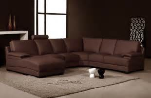 brown sofa brown leather and suede sofa with right chaise and ivory