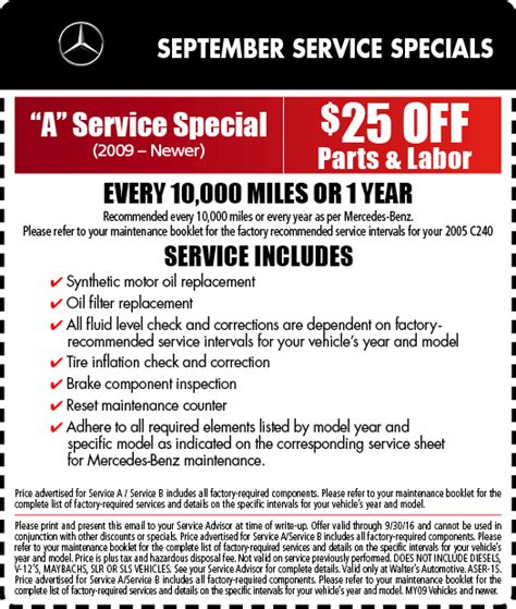 Mercedes Service Specials by Mercedes Service Specials Auto Repair In Riverside