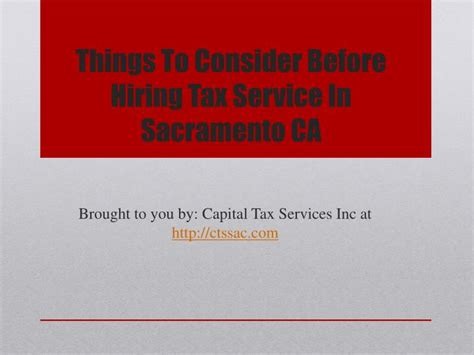 service sacramento ca ppt things to consider before hiring tax service in sacramento ca powerpoint