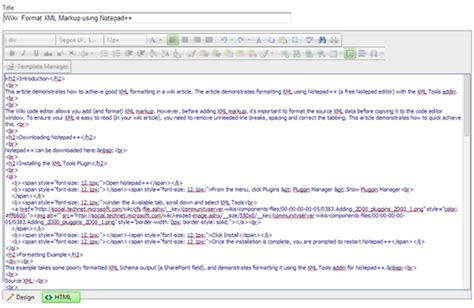 xml layout notepad wiki format xml markup using notepad technet articles