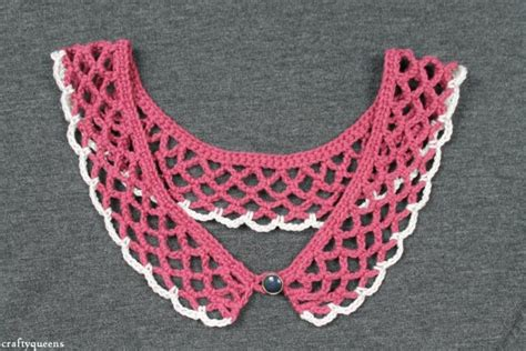 pattern crochet lace collar more pretty collars to crochet free patterns