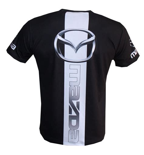 mazda t shirt with logo and all printed picture t