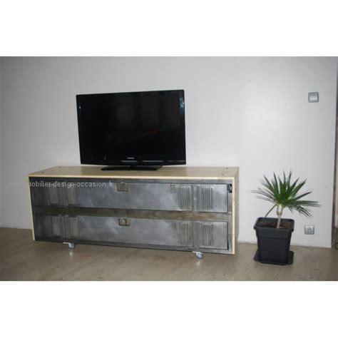Impressionnant Meuble Tv Profondeur 50 Cm #4: meuble-tv-industriel-vestiaire-metal-et-bois-6913.jpg