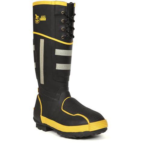 s 174 rubber met guard miners work boots black