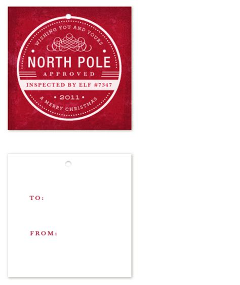 printable gift tags from the north pole gift tags north pole approved at minted com