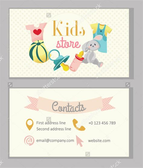 business card templates kindergarten 29 business cards psd ai eps vector format