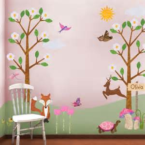 Girls Room Wall Stickers New Girl Version Of The Forest Friends Wall Sticker Kit