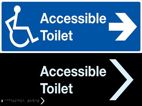 Design House Free Accessible Toilet Sign C P W Stonehouse