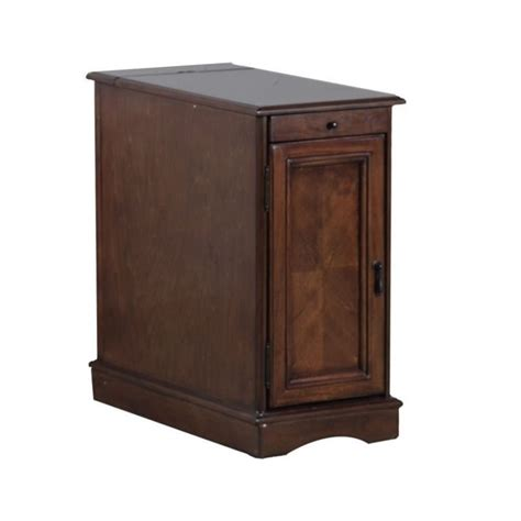 accent table storage powell furniture butler rectangular end table with storage