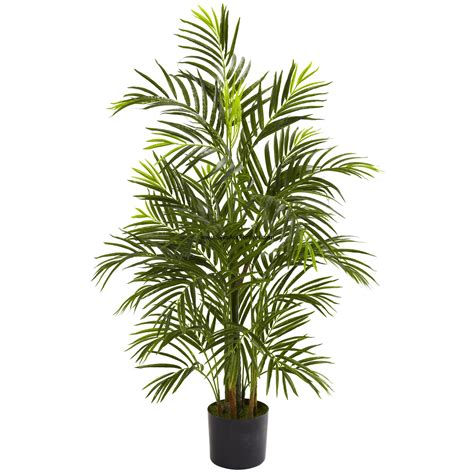 3 6 quot uv resistant outdoor artificial areca palm tree w pot