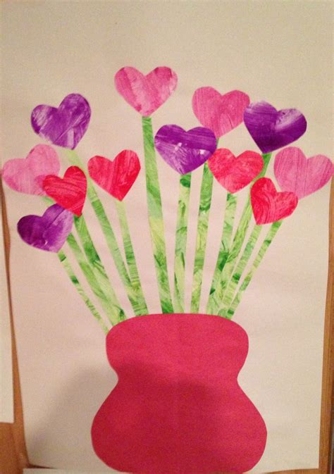 valentines crafts preschool s day flower craft child paints a of