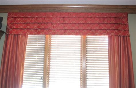 Valance Blinds Mock Valance Draperies And Wood Blinds On One