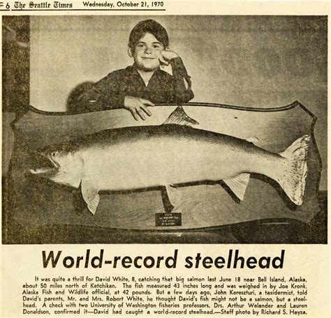 Washington Records World Record Steelhead Northwest Fishing Board Piscatorial Pursuits Outdoor